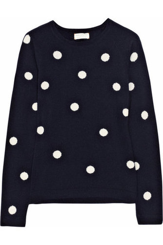 Chinti and Parker | Polka-dot cashmere sweater | NET-A-PORTER.COM