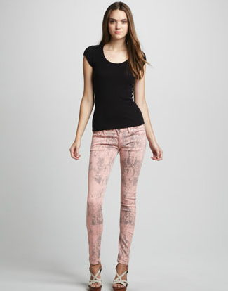 Textile Elizabeth and James Deb printed skinny jeans ($225)