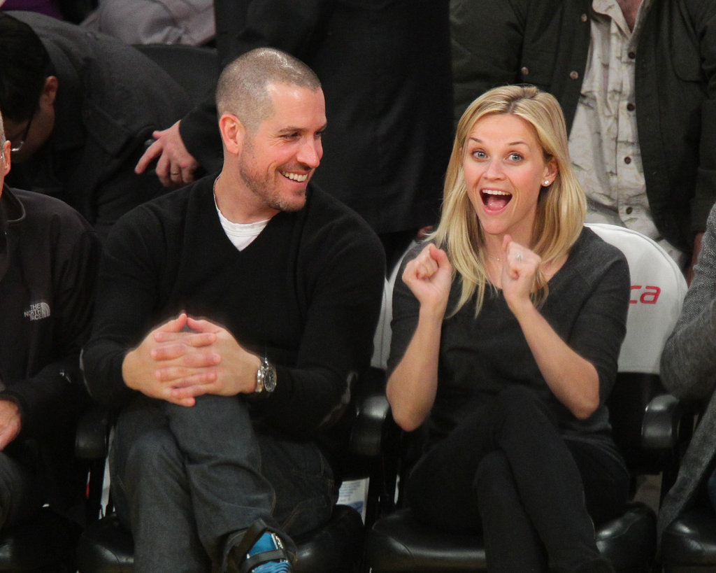 The couple got animated courtside in Jan. 2011.