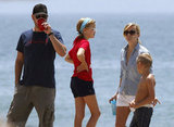 Jim Toth, Reese Witherspoon, Ava, and Deacon celebrated the Fourth of July in Malibu in 2011.