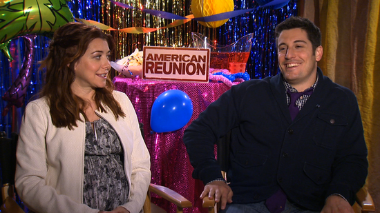 Alyson Hannigan and Jason Biggs on His American Reunion Nude Scene and Growing Up With Jim and Michelle