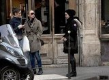 Scarlett Johansson and two friends spent the day walking through Paris.