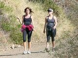 Reese Witherspoon on a hike with a friend amidst pregnancy rumors.