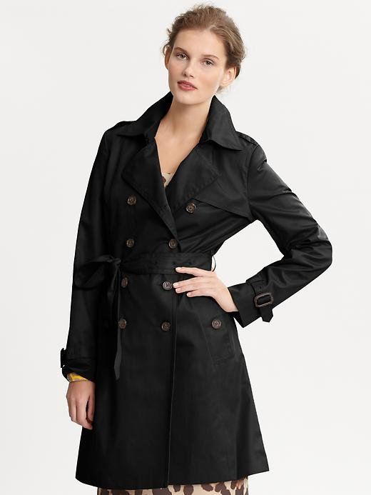 A no-fail, can't-go-wrong-with-this style that's neither trend-driven or overly expensive.  Banana Republic Classic Trench ($198)