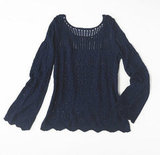 Alberta Ferretti for Macy's Impulse Navy Double Layer Knit Sweater ($79)