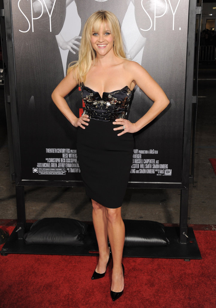 Reese looked sexy and sassy in a beaded Miu Miu dress for the This Means War Los Angeles premiere in 2012.