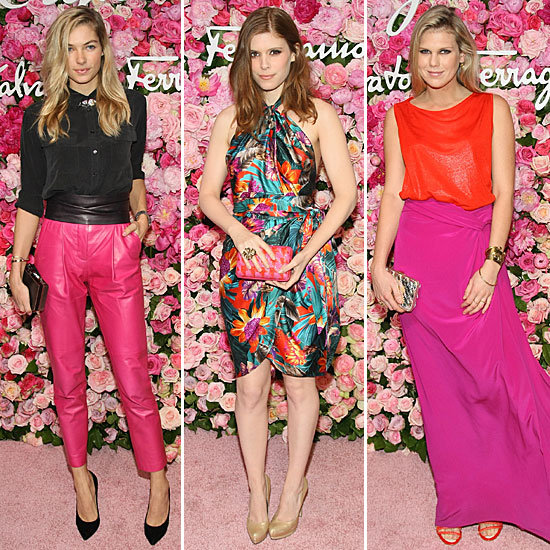 A Lesson in Spring Brights and Florals Courtesy of Ferragamo Party's Most Stylish Attendees