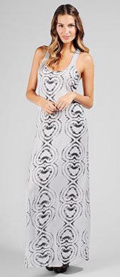Ella Moss Official Store, ELLA-3241 Love Print Jersey Maxi Dress, ellamoss.com