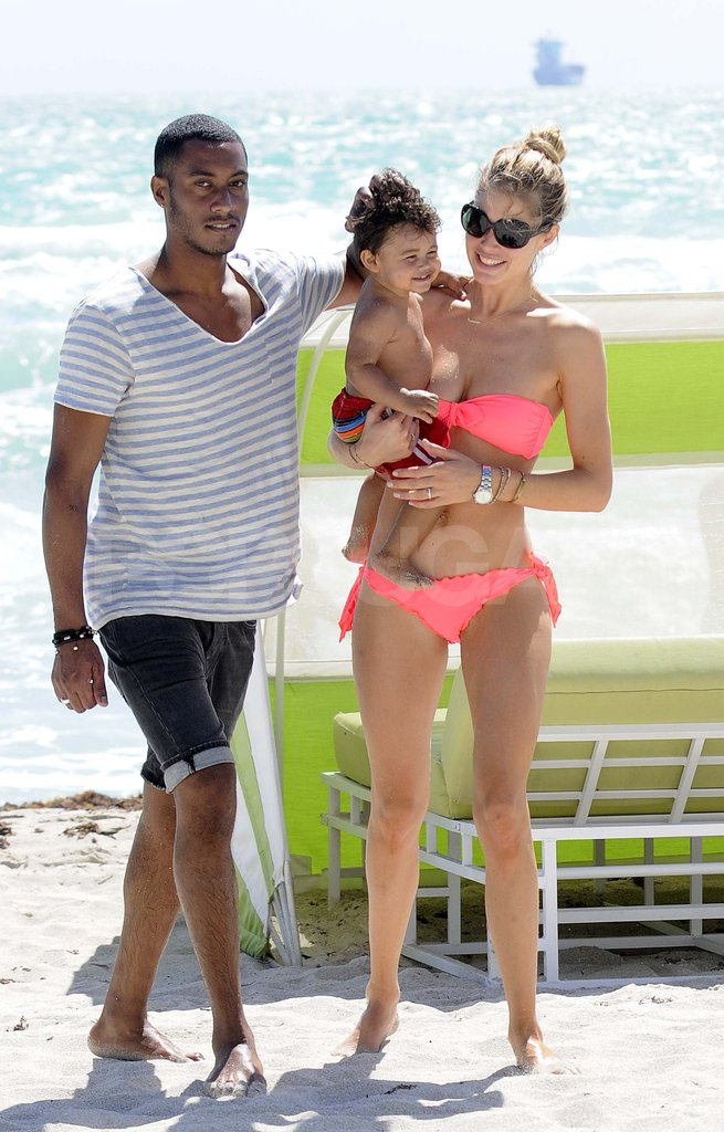 Model Doutzen Kroes Fits in Bikini Time on the Beach With Her Boys