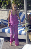 Nicole Richie lounged by the pool at her hotel in Miami Beach.