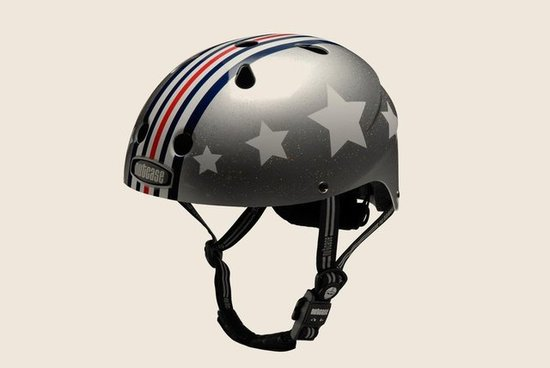 Nutcase Little Nutty Silver Fly Helmet ($60)