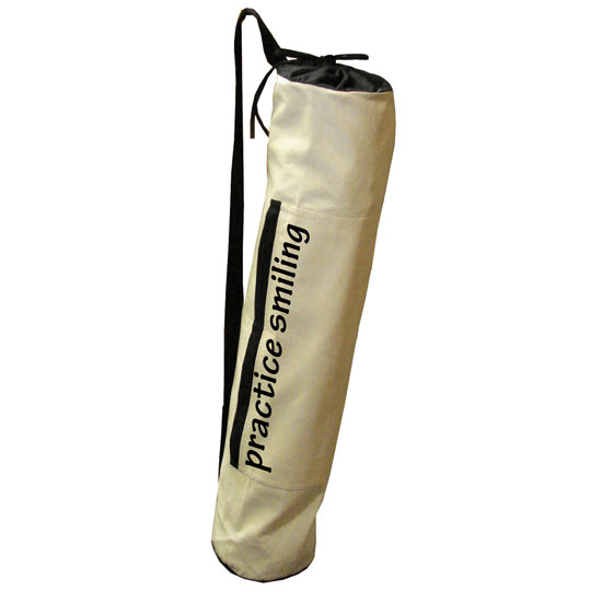 While practicing yoga is the primary goal, the message on this Practice Smiling Yoga Bag ($15, originally $25) is also worth striving toward.