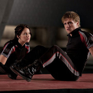 Katniss and Peeta in The Hunger Games Movie