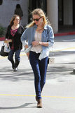 Kate Bosworth worked denim-on-denim with ease.