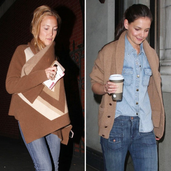 Kate and Katie Show Two Chic Ways to Do Denim With Camel