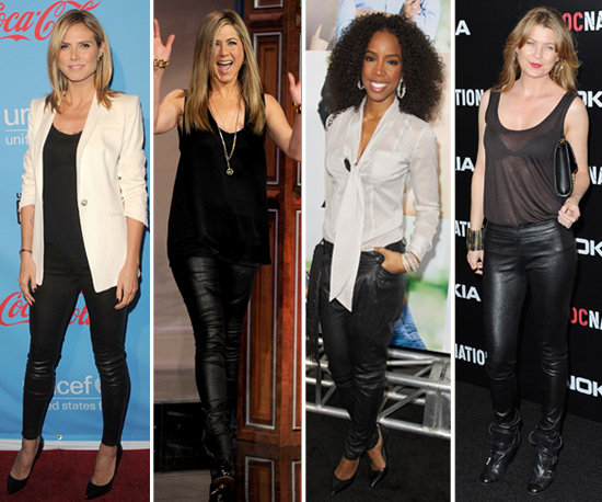 Trend Report: Hollywood is Still Obsessed With Black Leather Pants