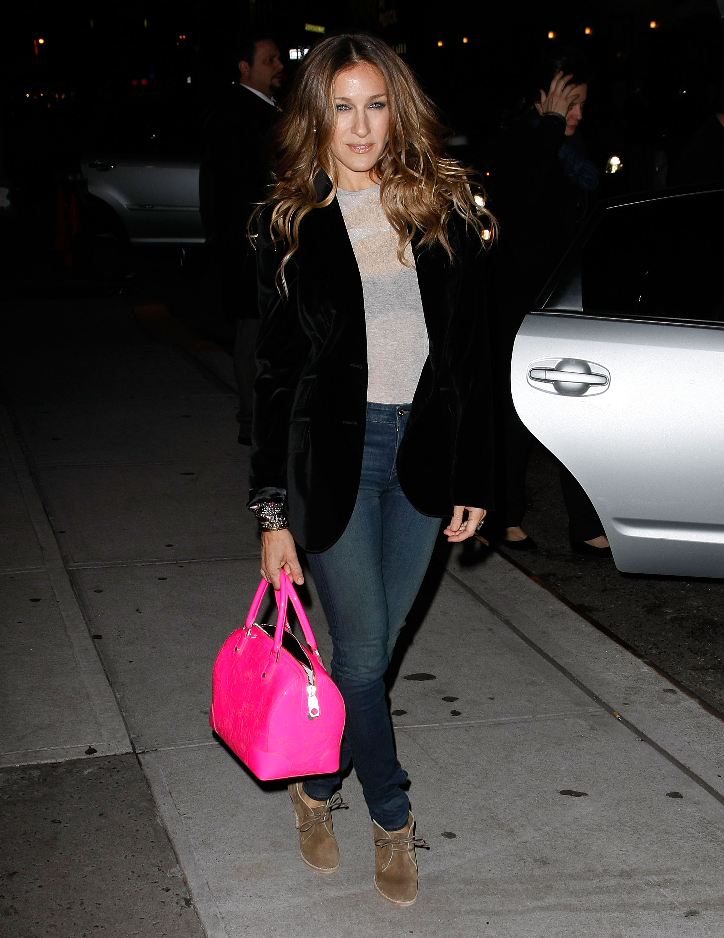 SJP is not afraid to rock neon colors as exemplified by ...