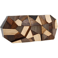 Rafe New York Maryanne Multi Color Wood Minaudiere