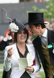 Princess Eugenie talks to Jake Warren in the parade ring on the fourth day of Royal Ascot 2009.