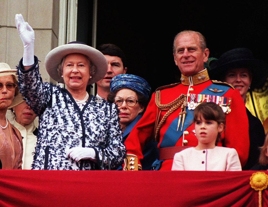 How cute is Princess Eugenie in 1999, during the queen's birthday celebrations?
