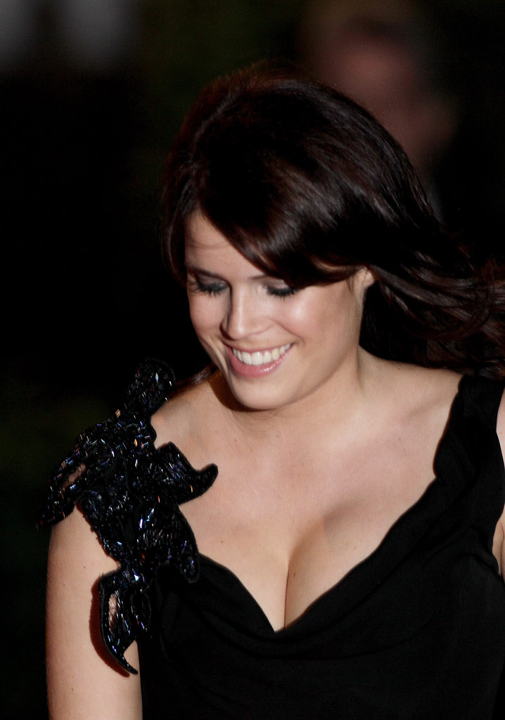 Princess Eugenie smiles.