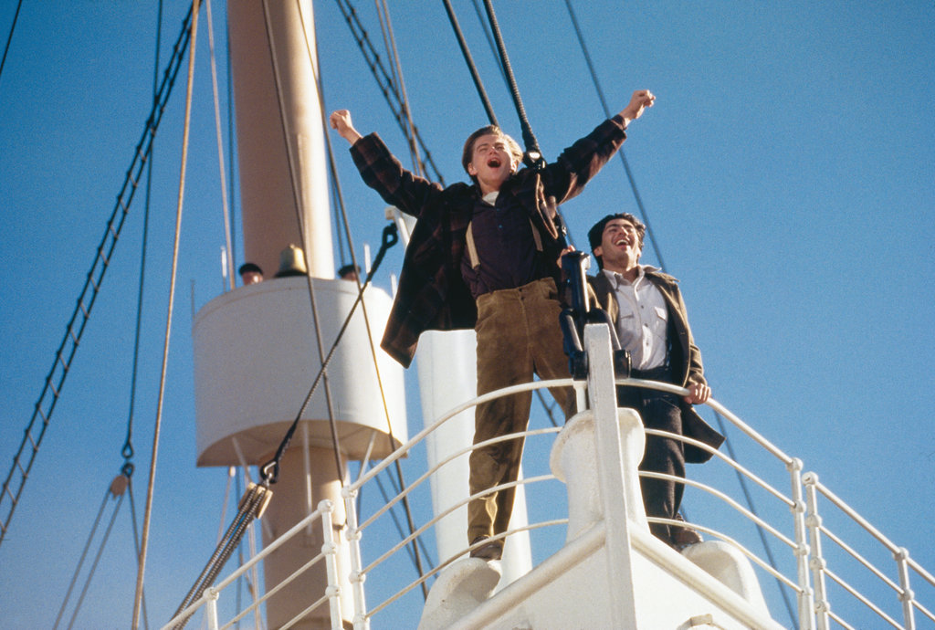 Leonardo DiCaprio and Danny Nucci in Titanic.  Photo courtesy of Paramount Pictures