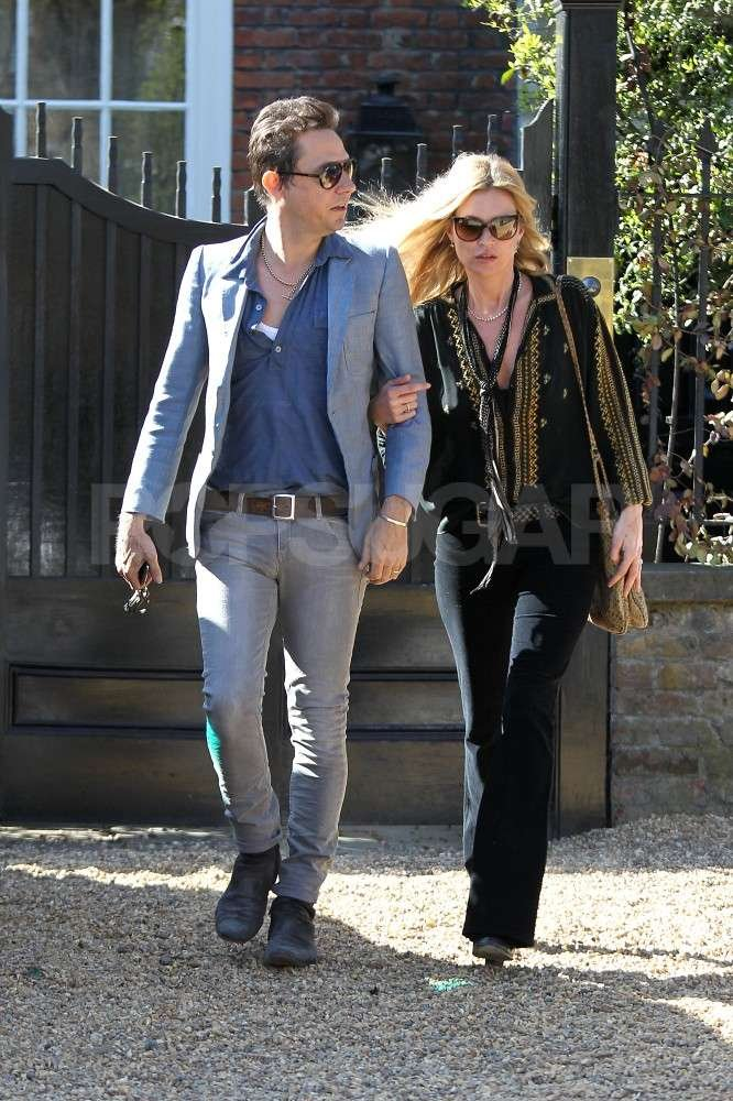 Kate Moss and husband Jamie Hince step out in London.