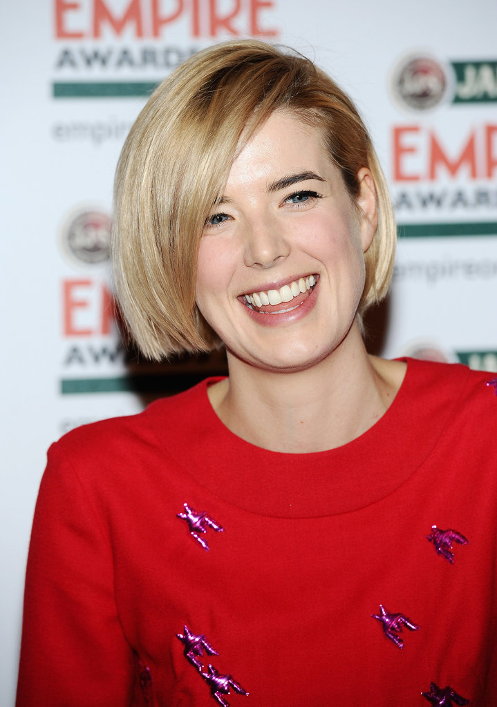 Agyness Deyn has a laugh at the Jameson Empire Awards in London.
