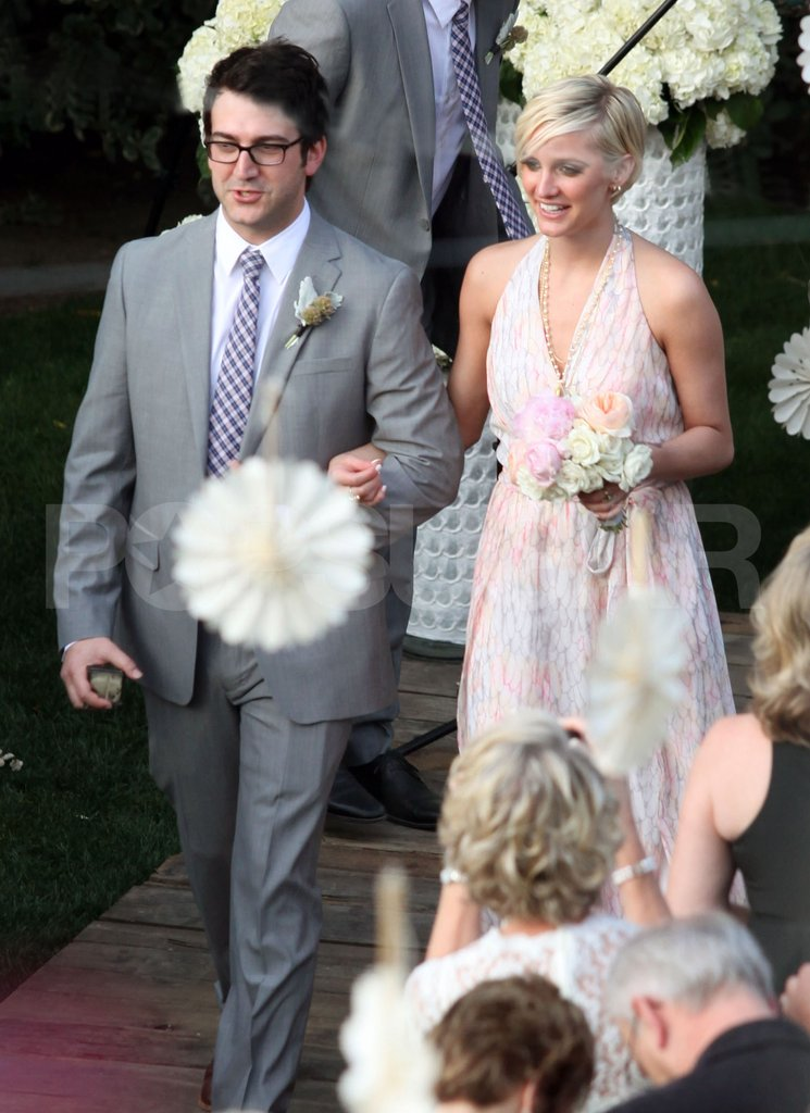 Ashlee Simpson walked down the aisle.