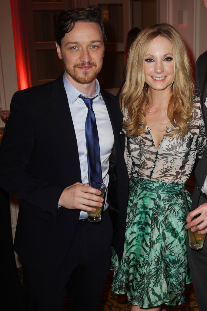 James McAvoy and Joanne Froggatt pose together at the Jameson Empire Awards in London.