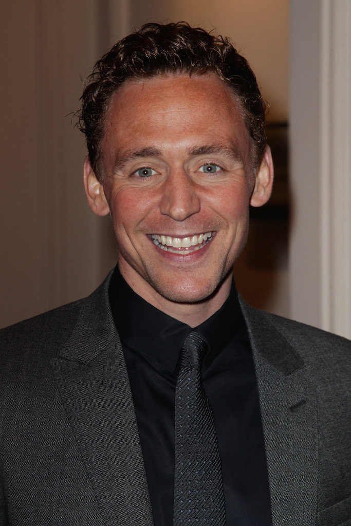 Tom Hiddleston gives a big smile at the Jameson Empire Awards in London.