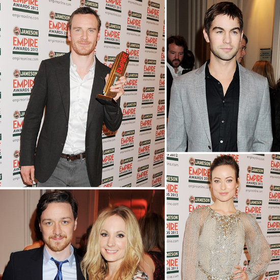 Michael Fassbender Joins Up With Thor's Chris and Olivia at London's Empire Awards