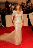 Fergie went full-on ethereal in a champagne-colored Marchesa gown for the 2011 Met Gala.