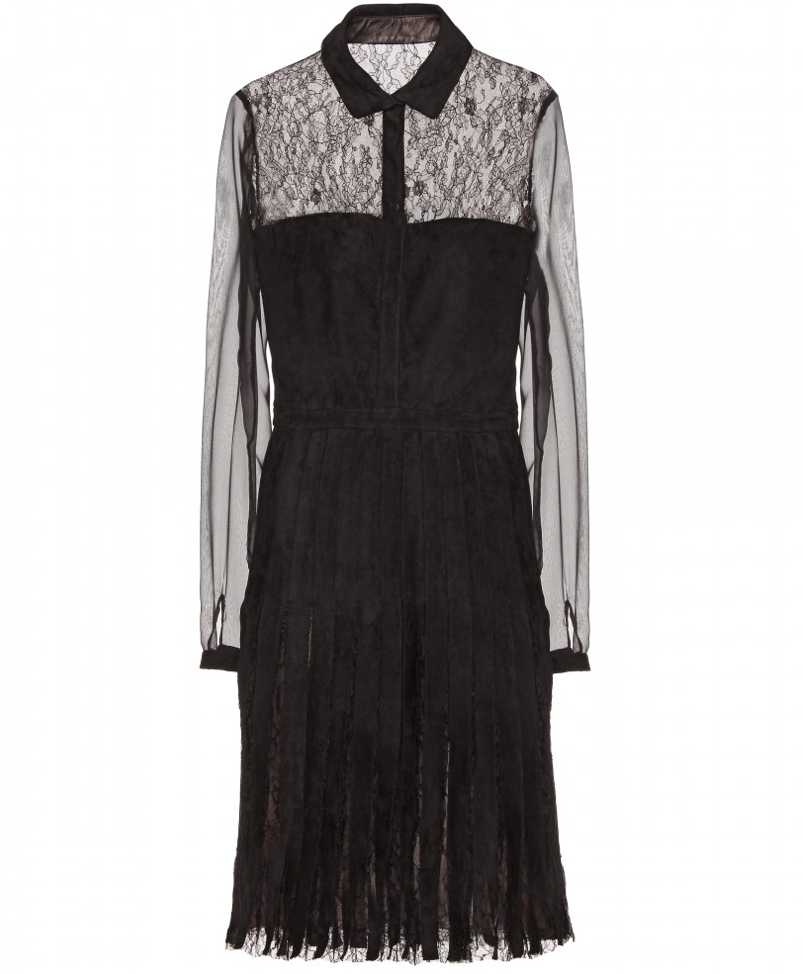 Valentino Sheer Sleeve Shirt Dress ($2,089)