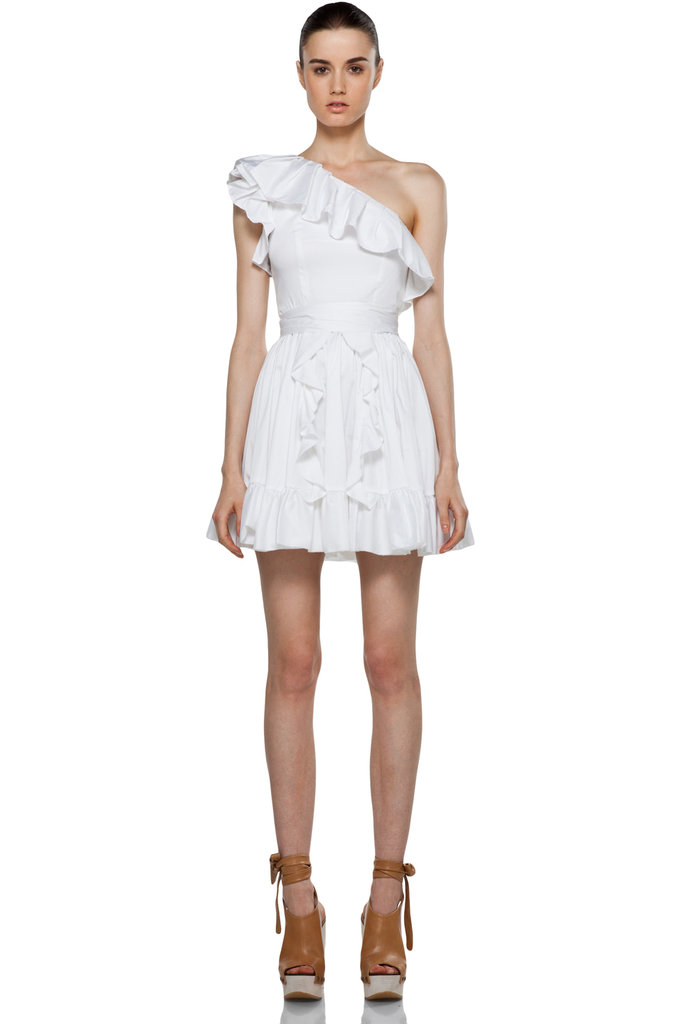 Rachel Zoe Isabelle Ruffle Dress in White ($375)