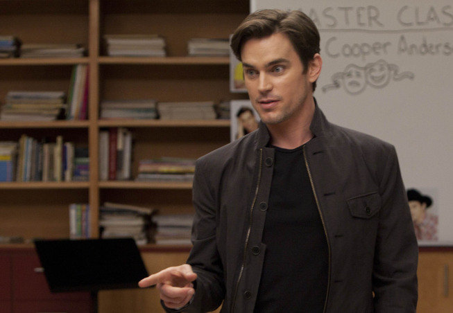 Matt Bomer as Cooper on Glee.  Photo courtesy of Fox