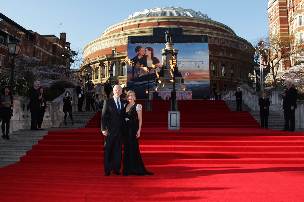 Kate Winslet and James Cameron were reunited for the world premiere of Titanic 3D in London.