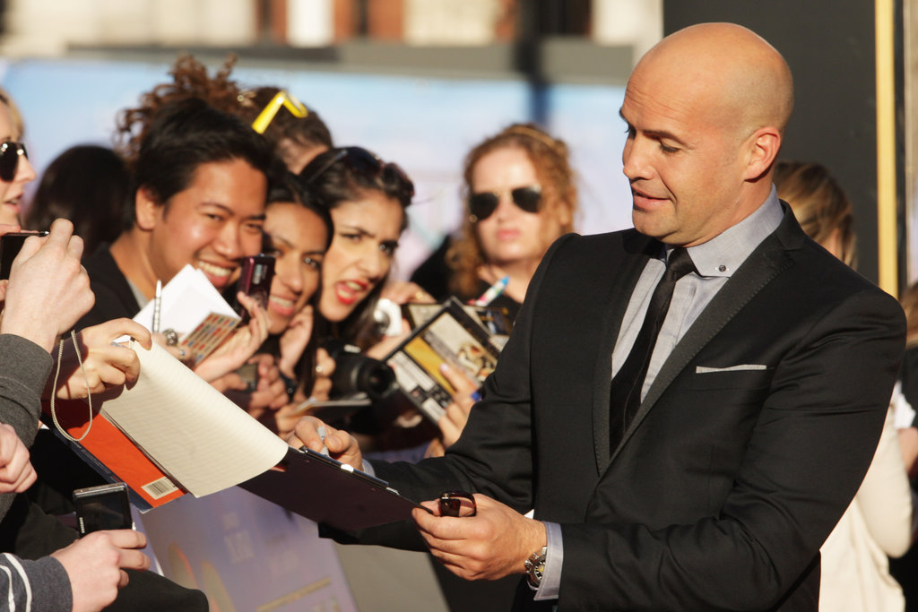 Billy Zane signed autographs at the Titanic 3D world premiere in London.