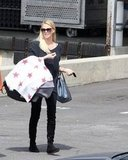 Charlize Theron stepped out of the post office in LA carrying Jackson.