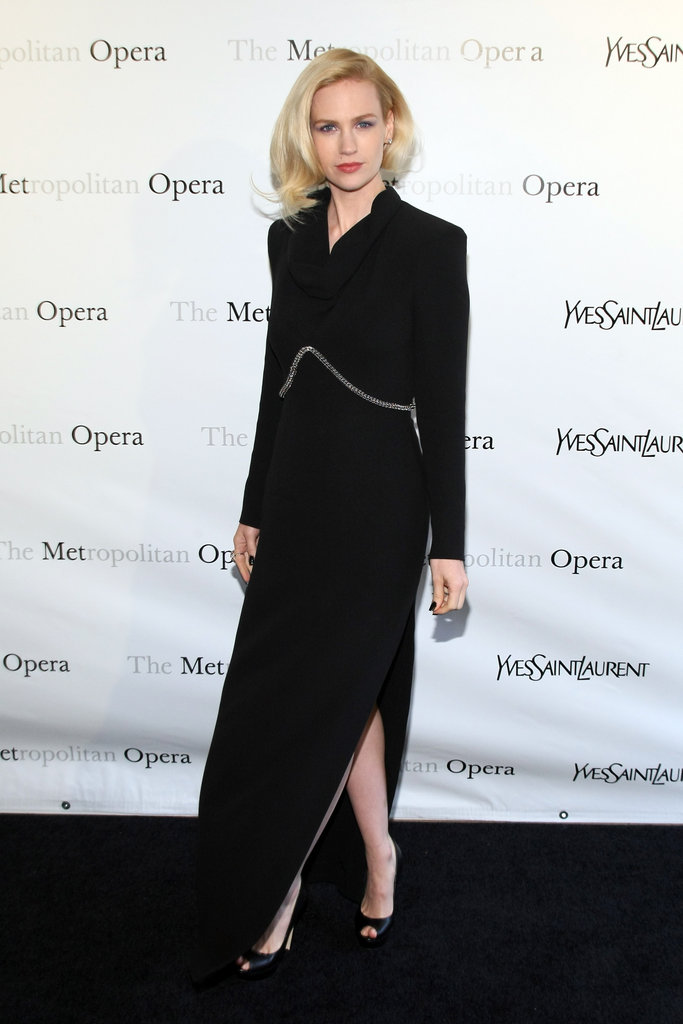 January Jones at the Metropolitan Opera gala in NYC.