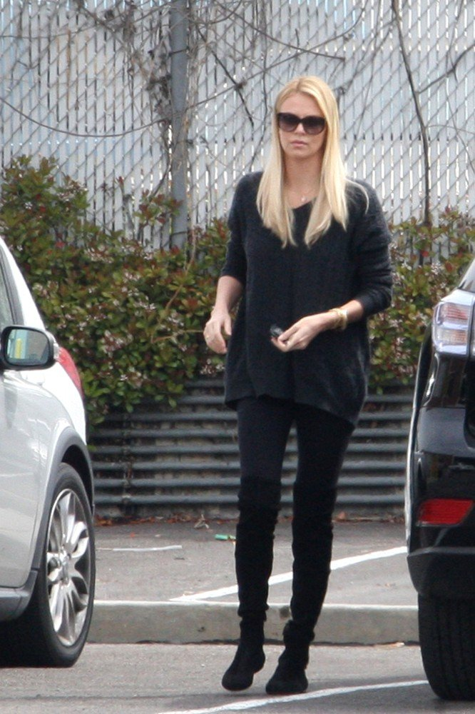 Charlize Theron arrived at the post office in LA with Jackson.