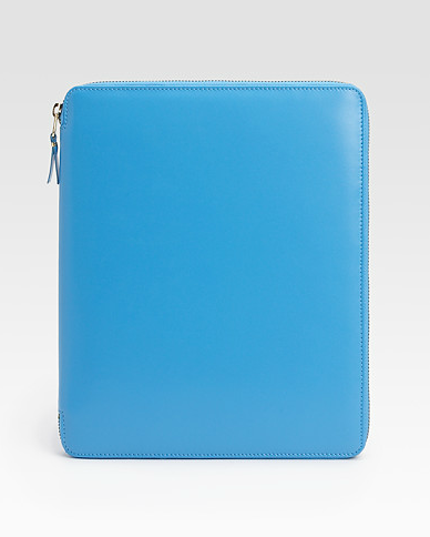 Comme des Garcons Leather iPad Cover in blue ($495)