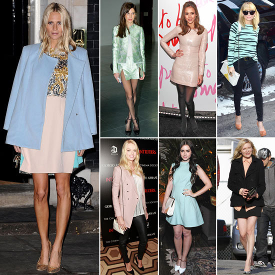 7 Days, 7 Ways: How Celebs Style Spring's Pretty Pastels