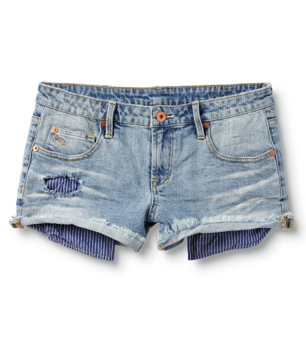 Who wears short shorts? We do! If you do, too, show off your sexy stems in a pair of cute cutoff shorts.  Quiksilver Denim Shorts ($50)