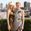 Rihanna and Brooklyn Decker Battleship Pictures in London