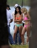 Ashley Benson stuck close to Selena Gomez on set.
