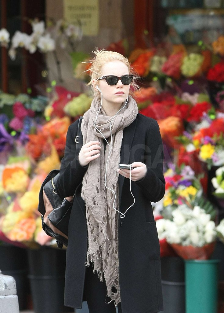 Emma Stone kept it casual while strolling the streets of NYC.