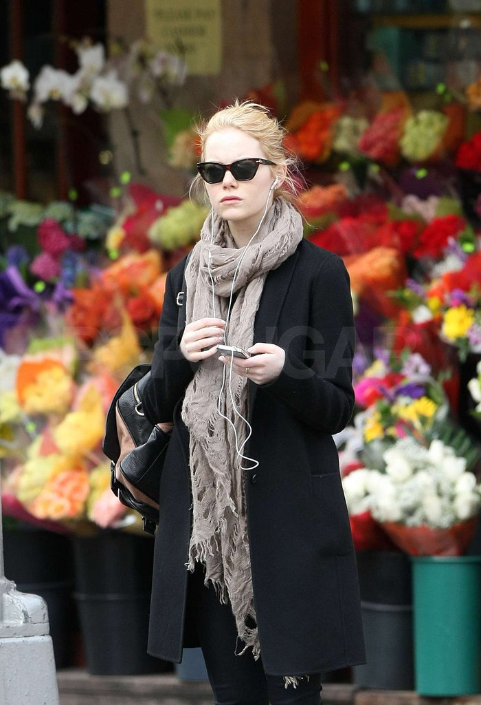 Emma Stone took a walk while hanging out in NYC.
