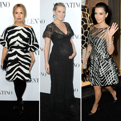Rachel Zoe, Kim Kardashian, Pregnant Molly Sims Pictures at Valentino 50th Anniversary Celebration