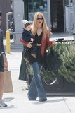 Rachel Zoe carried Skyler Berman while on the way to lunch in LA.